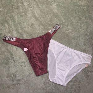 ✨Victoria Secret Silk Panty Bundle NWT✨